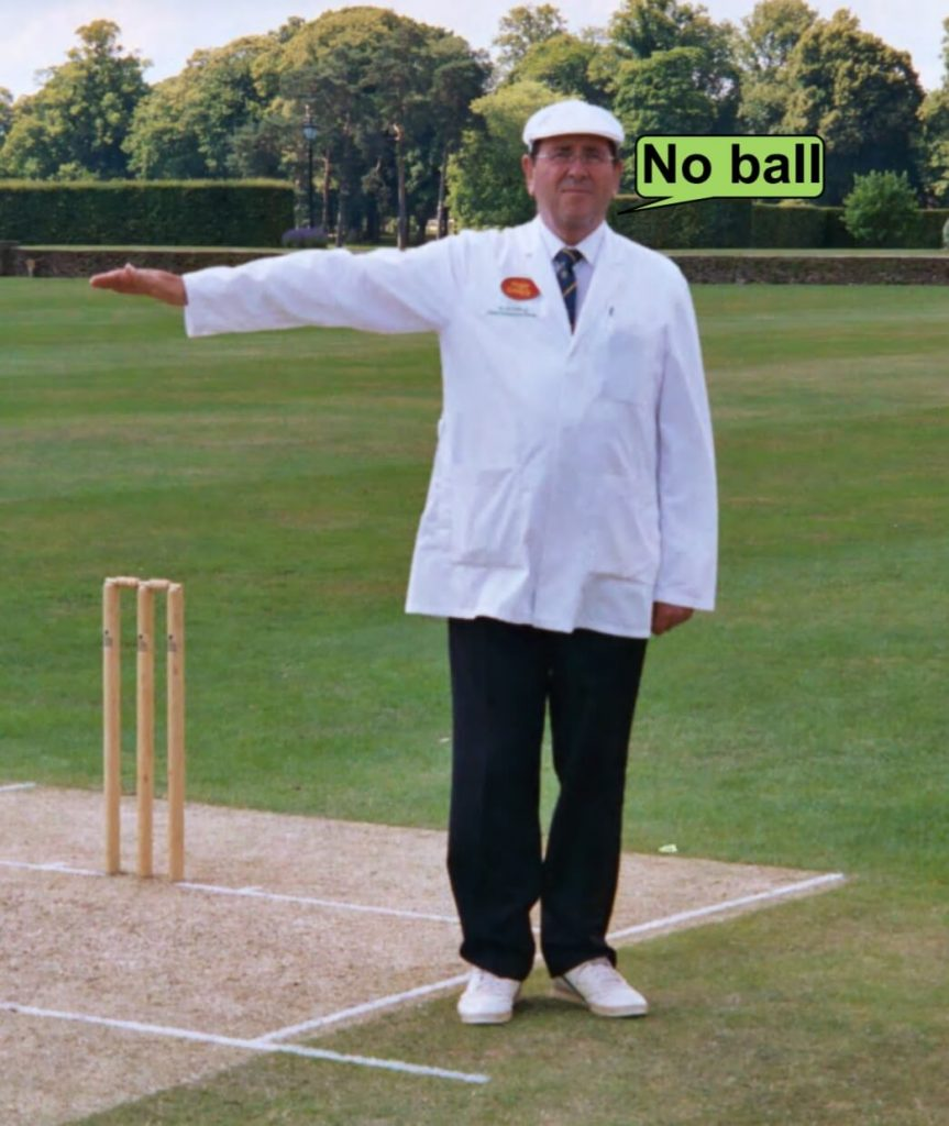 No ball judged by the cricket umpire