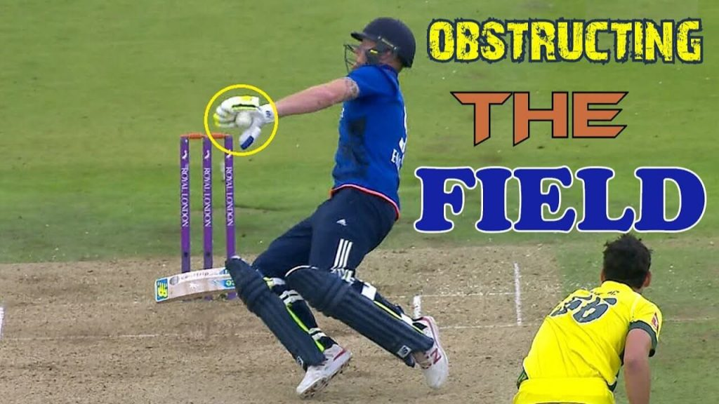 Batsman Out Obstructing Field