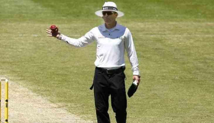 Umpire calling No-ball in a cricket game