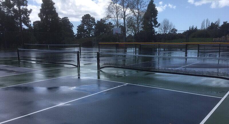 Wet court for Pickleball
