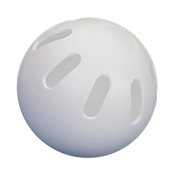 Whiffle ball for playing pickleball