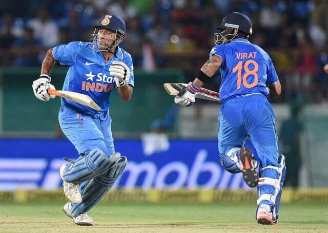 Running between the wickets in cricket