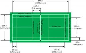 Pickleball & Badminton court