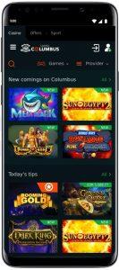 Casino Columbus app iOS Android