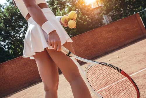 Who is serving first in tennis match