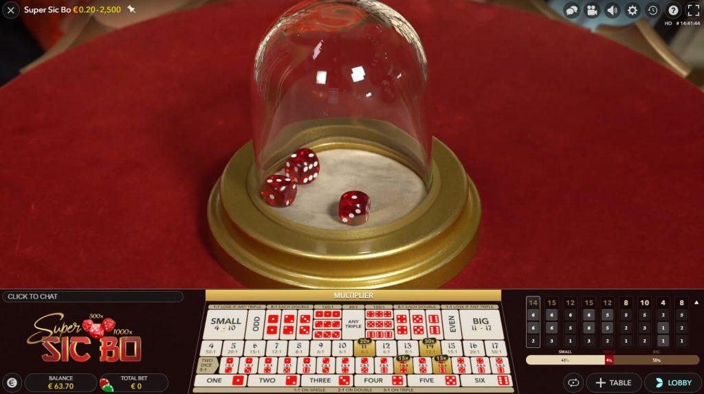 Sic Bo joc de noroc cu zaruri