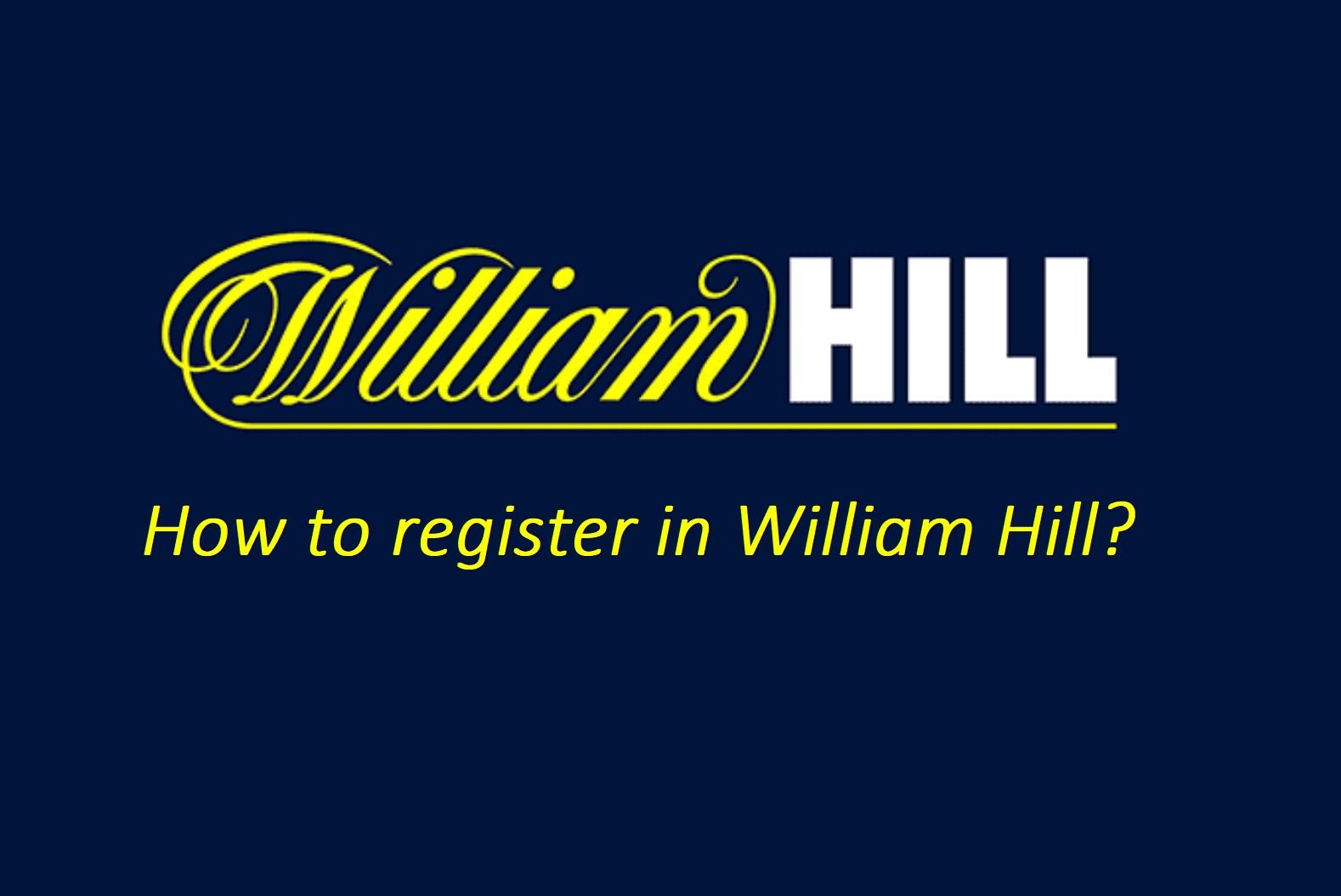 William Hill registration sign up