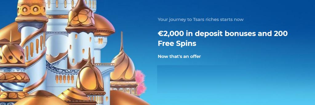 Tsars New Client Bonus