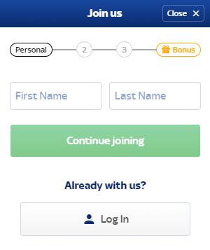 Skybet Register